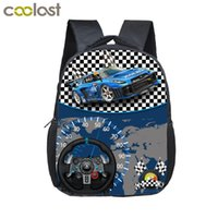 5007a51c148e 12 inch Kids Racing Car Small School Bags Child cartoon Backpacks Boys  Girls Toddler Bags Children Bookbag Backpack Schoolbags