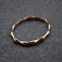 Wholesale womens stainless steel bangle - Women Bamboo Stainless Steel Brand Bangle Womens Italy G Logo Luxury Bracelet Party Muse Bangles Classic Design Jewelry