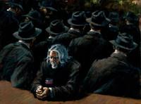 amerikanische indische malereien großhandel-Fabian Perez Ohne Titel II, Hochwertige Handgemalte HD-Druck Impressionismus Pop-Art-Ölgemälde auf Segeltuch.Multi-Größen Fp046