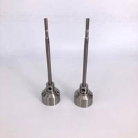 tubos de titanio al por mayor-Tazón de 22 mm Tapón Carb fit Domeless Titanio clavo de titanio Ti Nab Dabber Grado 2 PK Uñas de cerámica de cuarzo Vidrio tubería de agua bong