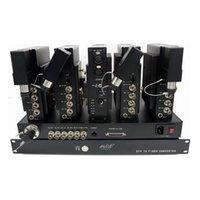 fernkamera-sender großhandel-Bidirektionale HD-SDI-Video-Gegensprechanlage PGM Remote Genlock / Timecode über Single-Mode-Glasfaser Sender Empfängerlösung System Multi-Kamera