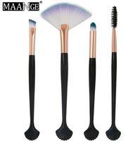 Wholesale high brand brush set online - High Quality Maange Brand shell Makeup Brush Set Cosmetic Make Up Brushes Kit Face Eyeshadow Brush
