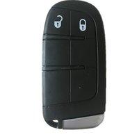 chrysler için anahtar kabuk toptan satış-Dodge Journey için yeni Anahtarsız Akıllı Uzaktan Anahtar Kutu 2011-2015 Chrysler için 2 Düğmeler + Bıçak anahtar kabuk fob Jeep
