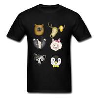 algodão orgânico camiseta venda por atacado-Mens Top T-shirts Animal Kingdom Normal Tops Camiseta Orgânica Tripulação Pescoço de Algodão Tee-Camisas DO VALENTIM DAY Presente Tshirt Homens
