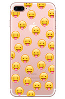 Wholesale smile phone cases - Transparent Soft Tpu Case for Iphone X 7 8 6 6s plus Samsung Samsung S7 edge s8 Note Emoji Smile Face Money Cartoon Phone Cases Skin Cover