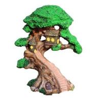 ingrosso elf accessori-Elf Tree House Miniature Fairy Garden Casa Case Decorazione Mini Craft Micro Landscaping Decor Accessori fai da te