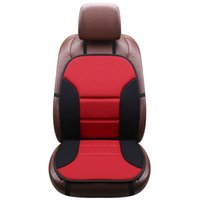 capas de assento preto vermelho para carros venda por atacado-Cinco Cor Vermelho Bege Azul Preto Cinza Macio Frente Assento Do Assento Do Carro Tampa com Para Trás de Uma Peça