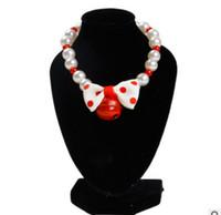 schneller welpe großhandel-Fashional Nette Haustier-Perlen-Hundehalsband-Katze perlt Halsketten-Anhänger mit Bell-Bowknot-Sicherheits-Welpen-Kragen-Großverkauf-schnellem Verschiffen