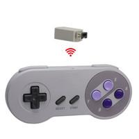 usb snes gamepad großhandel-SNES CLASSIC Mini Edition Gaming Controller 2,4 GHz USB Gamepad für PC Classic Joysticks Gamepad mit Box-Spiel Zubehör