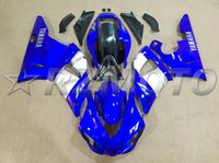 Wholesale 98 r1 blue fairings - New bodywork fairings set fit for YAMAHA 1998 1999 YZF-R1 98 99 YZFR1 98 99 YZF R1 YZFR1000 ABS fairing kit blue white
