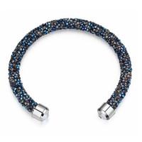 swarovski neues armband großhandel-2018 neue luxus design alle kristall magie armreifen für frauen kristall von swarovski armreifen armbänder hochzeiten partei schmuck geschenk