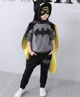 Wholesale new batman for sale - the year new style children Cosplay Little boy girl Cosplay Batman autumn cool clothes long style
