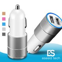 portable iphone charger оптовых-Для iPhone Автомобильное Зарядное Устройство 3.1A Dual USB Порт Зарядные Устройства Портативный Быстрый Авто Адаптер для Android Смартфон iPad Samsung S10