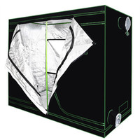 Wholesale grow tent rooms for sale - Group buy Reflective Mylar Waterproof Grow Tent Green plant room with Obeservation Window and Floor Tray for Indoor Flowers Plant Growing Dismountable