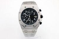 royal offshore UK - High quality luxury men's watch A P ROYAL OAK series OFFSHORE 25721TI black 42MM multi-function quartz chronograph original strap sapphire