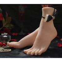 ingrosso bambola sexy del silicone giapponese-Bambole sexy del sesso della pelle Masturbazione giapponese Silicone pieno a grandezza naturale Piedini falsi Foot Fetish Toy Giocattoli sexy Modello di piede