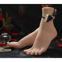 silicone poupée sexy jouet sexy achat en gros de-Peau réelle poupées de sexe Masturbation japonaise Full Silicone Taille Réelle Faux Pieds Pied Fétiche Jouet Sexy Jouets Pied Modèle