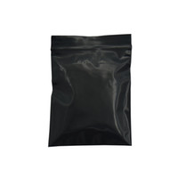 tutamak kilit çantası toptan satış-500pcs lot Small Black Opaque Zip Lock Resealable Ziplock Plastic Bag Grip Seal Pouch Retail Packing Bag Zipper Plastic Package for Grocery