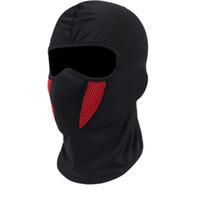 casco táctico del ejército al por mayor-Balaclava Moto Máscara de la motocicleta Tactical Airsoft Paintball Ciclismo Bike Ski Army Casco Protección Máscara de cara completa