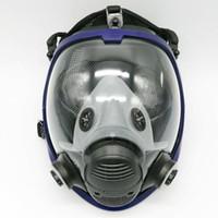 mascarillas faciales para hombres al por mayor-Al por mayor-Actualización completa máscara facial Masquerade para hombres 3M 6800 Máscara de gas cara completa careta respirador para la pintura de pulverización Envío gratis