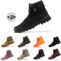Wholesale womens boots luxury resale online - 2019 New Original Mens palladium Brand boots Womens Designer Sports Red White Winter Sneaker Casual Trainers Luxury ACE boots