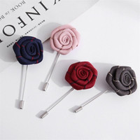 Wholesale men flower brooches for sale - Group buy Fashion Hand Made Breastpin For Men And Women Rose Flower Brooch Resuable Suit Accessories Factory Direct mx BB