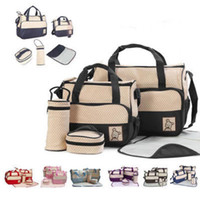 Wholesale diaper bags polka dots resale online - Baby Diaper Bag Set For Mummy Bag Baby Bottle Holder Stroller Maternity Nappy Bags Colors Cross Body Outdoor Bags OOA5542