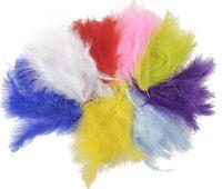 аксессуары для турции оптовых-Маленькая индейка перо окрашенные страусиное перо DIY свадебные украшения перья перья плюмы аксессуары для одежды перья 14 см