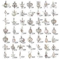 jóias descobertas coração formas venda por atacado-brand new 62 estilos mix pequeno pingente para colar coração amor quadro forma pérola pingentes encantos jóias resultados componentes modelo não. NE882