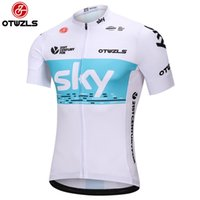 Wholesale Bicycle Wear Men - Sky 2018 Men Summer Cycling Jersey Reflective Cycling Clothing Pro Team Mountain Bike Jersey Team Short Sleeve Shirts Bicycle Jersey Wear