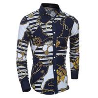 xs man top à carreaux achat en gros de-2018 Hommes À Manches Longues Chemise À Carreaux Mâle Haute Qualité Tops Shirt Mode Hommes Robe Chemises Slim Hawaiian Grand Taille XXL