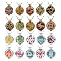 Wholesale vintage owl locket necklace for sale - Group buy Aromatherapy Jewelry Necklace Vintage Owl Tree of life Aroma Diffuser Necklace Open Lockets Pendants perfume Diffuser Necklace