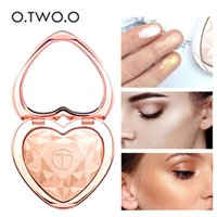 косметика для макияжа оптовых-O.TWO.O Shimmer Highlighter Heart Palette Pressed  Iluminador  4 Color High Pigments Bronzer Face Shiny Cosmetics