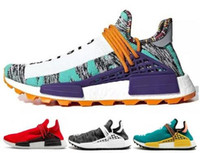1c947d1bf Originals 2018 Pharrell Williams Human Race Hu Running Shoes Men Women Real  With Original Box Authentic Sneakers Sports 36-47