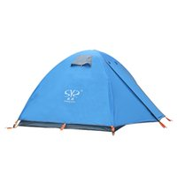 Wholesale professional construction - 2 Person Portable Outdoor Camping Tent Ultralight Aluminum Pole Tent Two-door Professional Windproof Camping CK111G