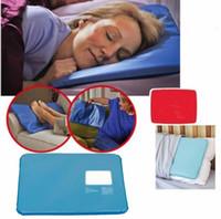 almohadilla de almohada de enfriamiento al por mayor-Nuevo Summer Chillow Almohada Terapia Inserción para dormir Pat Mat Alivio para los músculos Gel de enfriamiento Almohadilla Almohadilla para hielo Masajeador Almohadilla de llenado de agua Azul
