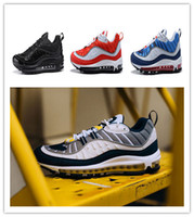 Wholesale Mens Sneakers Spikes - 98s size 40-46 2018 Vapormax 98 Bullet Running Shoes Men designer shoes Corss Jogging Walking Sports Athletic mens Run Shoes Outdoor Sneaker