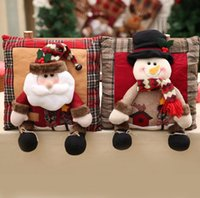Wholesale santa claus bedding christmas for sale - Group buy Christmas Linen cartoon Pillow Cushion Santa Claus Snowman Christmas Decorations Pillows New Year Gift Pillows Home Decorative FFA1207
