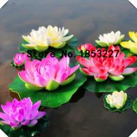 ingrosso china gardening-GGG 5 pz MIX COLORSLarge Bella semi di loto fiore ninfea acqua serbatoio di pesce caratteristiche Cina fiori rari bonsai per giardino