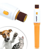 Wholesale Pet Electric Clippers - dog nail clippers pet Pedicure Tool Care Automatic Electric Pet Dog Puppy Cat Paw Claw Toe Nail Grinder Grooming Trimmer Clipper