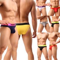 malha boxer wj venda por atacado-Underwear Cuecas dos homens Sexy Macio Bulge Pouch Jockstrap Biquíni Calcinha Modal Baixo Crescimento Cuecas Bottoms Multicolor