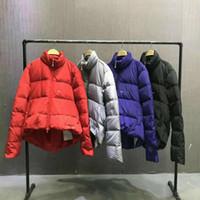yüksek kaliteli alt katmanlı erkekler toptan satış-Lüks Tasarımcı Kış Zippe Ördek Aşağı Sıcak Giysiler Erkekler Ve Kadın Yüksek Kalite Gevşek tasarımcı Ceket HFWPYRF040