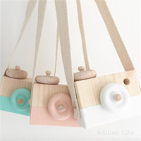 Wholesale wholesale baby toy camera - Baby Wooden Simulation Camera Kids cool travel Mini toys 2018 cute Safe Birthday Gift Cartoon Accessories Children Room 8 colors C3703