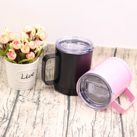 Wholesale coloured mugs wholesale - Classic Stainless Steel Vacuum Cup Brief Mug Car Cup Multi Colour With Insulated Leak-Proof Bottle NNA105