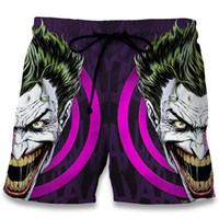 Wholesale Joker Trousers - Men Summer Beach Shorts 2017 The Dark Knight Joker 3D Print Fashion Harajuku Bodybuilding Boardshorts Fitness Trousers Plus Size