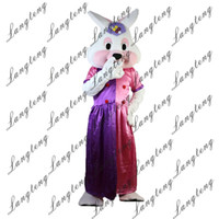 Wholesale princess mascot costumes - 2018 New high quality rabbit princess Mascot costumes for adults circus christmas Halloween Outfit Fancy Dress Suit Free Shipping023