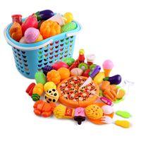 çocuklar pişirme oyun seti oyuncaklar toptan satış-40 adet Oyuncaklar Oyna Pretend Çocuk Oyun Seti Mutfak Araçları Plastik Pişirme Oyuncaklar Kitleri Pretend Oyun Erken Eğitici Oyuncak Çocuklar