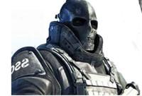 ingrosso la maschera completa della maglia di airsoft-2018 Army Mesh Full Face Mask Skull Skeleton Airsoft Paintball BB Gun Game proteggere la maschera di sicurezza