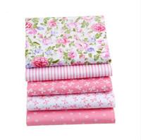 rosa baumwolltasche großhandel-Dropshipping Rosa Farbe ShuanShuo Marke Baumwolle Bundle Stoff Patchwork Textile Diy Nähen Stoff Für Puppe Kleidung Taschen 40 * 50 cm