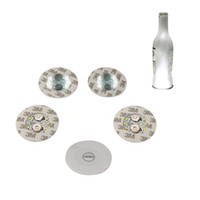 Wholesale sticker switch - Wine Bottle Lights, 6 LEDs Sticker Coaster Discs Lights for Wine Bottle, Liquor Bottle, or Other Clear Glass Decoration for Party